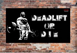 Баннер DEADLIFT OR DIE