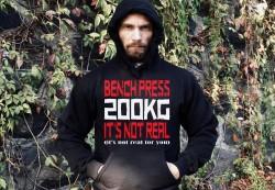 Толстовка BENCH PRESS 200kg IT'S NOT REAL