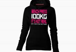 Толстовка BENCH PRESS 100kg IT'S NOT REAL